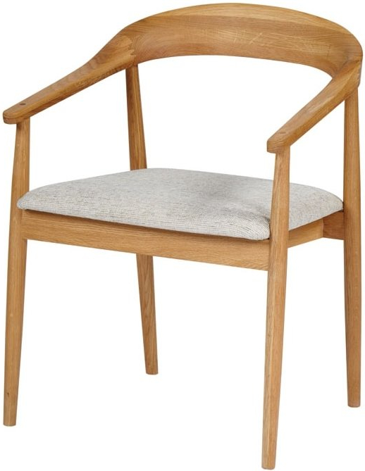 Well Known Oak Dining Chairs Inside The Fifties Dining Chair With Arms – Oak (View 19 of 20)