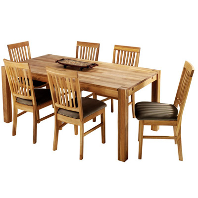 Well Known Oak Dining Tables And Leather Chairs With The Hannover Oak Dining Room Table And 6 Leather Chairs For Only £669 (Gallery 18 of 20)