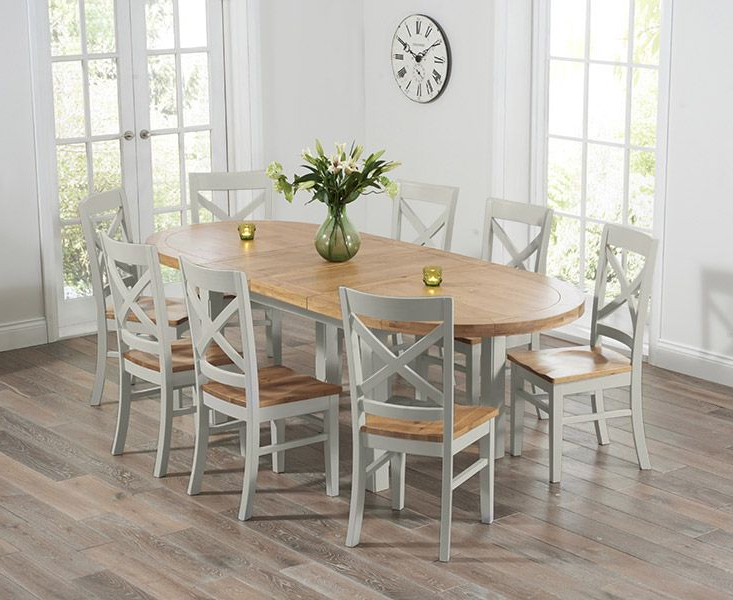 Well Known Oak Furniture Dining Sets With Regard To Buy The Chelsea Oak & Grey Extending Dining Table With Cavendish (Gallery 17 of 20)