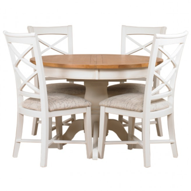 Well Known Padstow Round Extending Dining Table – Off White – Style Our Home Inside Round Extending Dining Tables And Chairs (View 16 of 20)