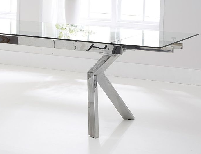 Well Known Palazzo Glass Extending Dining Table (View 13 of 20)
