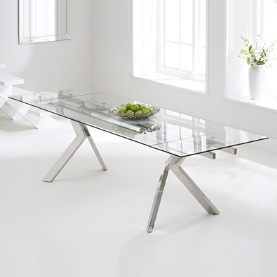 Well Known Palmero Glass Extending Dining Table – Robson Furniture Within Glass Extending Dining Tables (View 3 of 20)