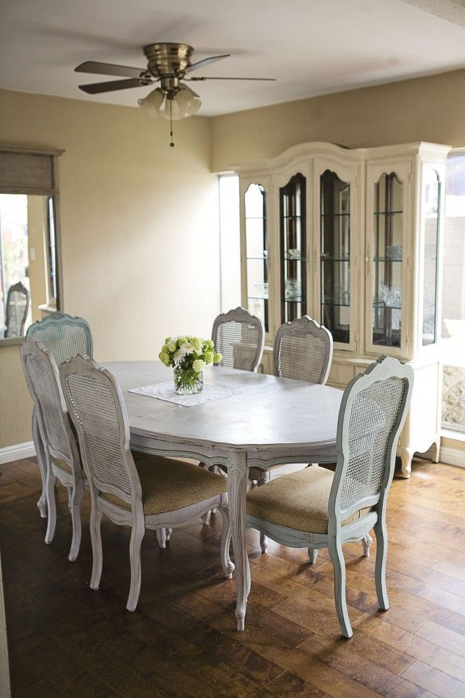 Well Known Paris Dining Tables Pertaining To Annie Sloan Dining Room. Dining Table In Paris Grey And Duck Egg (Gallery 2 of 20)