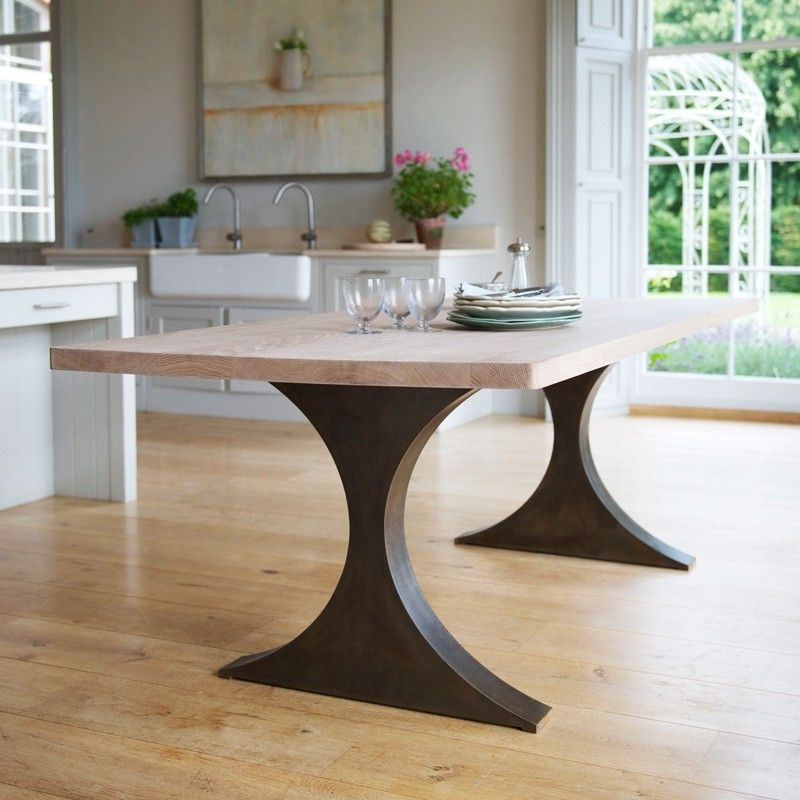 Well Known Paris Rectangular Dining Table With Metal Legs And Wood Top Tom In Dining Tables With Metal Legs Wood Top (View 3 of 20)
