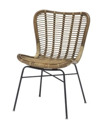 Well Known Rattan Dining Chair Pertaining To Magnolia Home Entwine Rattan Side Chairs (View 19 of 20)