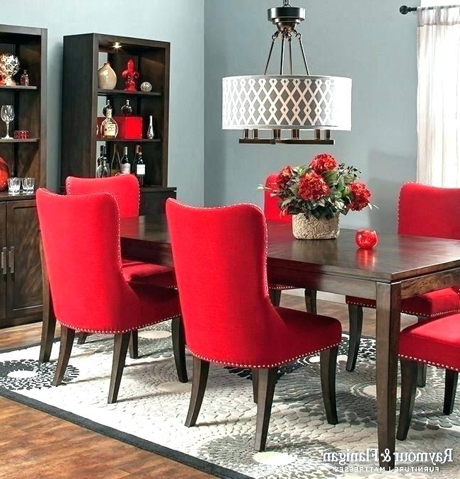Well Known Red Dining Chairs Pertaining To Red Upholstered Dining Chairs – Wowkajabiph (View 18 of 20)