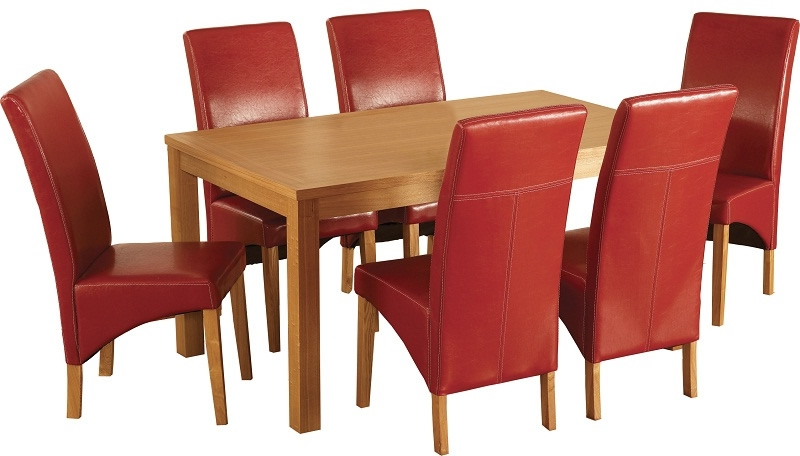 Well Known Red Dining Tables And Chairs Regarding Belgravia Dining Set – Oak Dining Table With Six Red Chairs From (View 20 of 20)