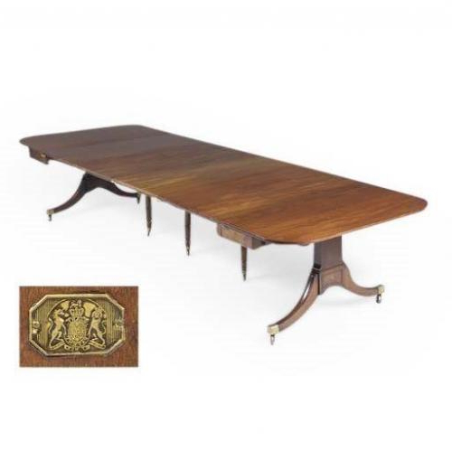 Well Known Regency Antique Mahogany Extending Dining Tableedwards (View 17 of 20)