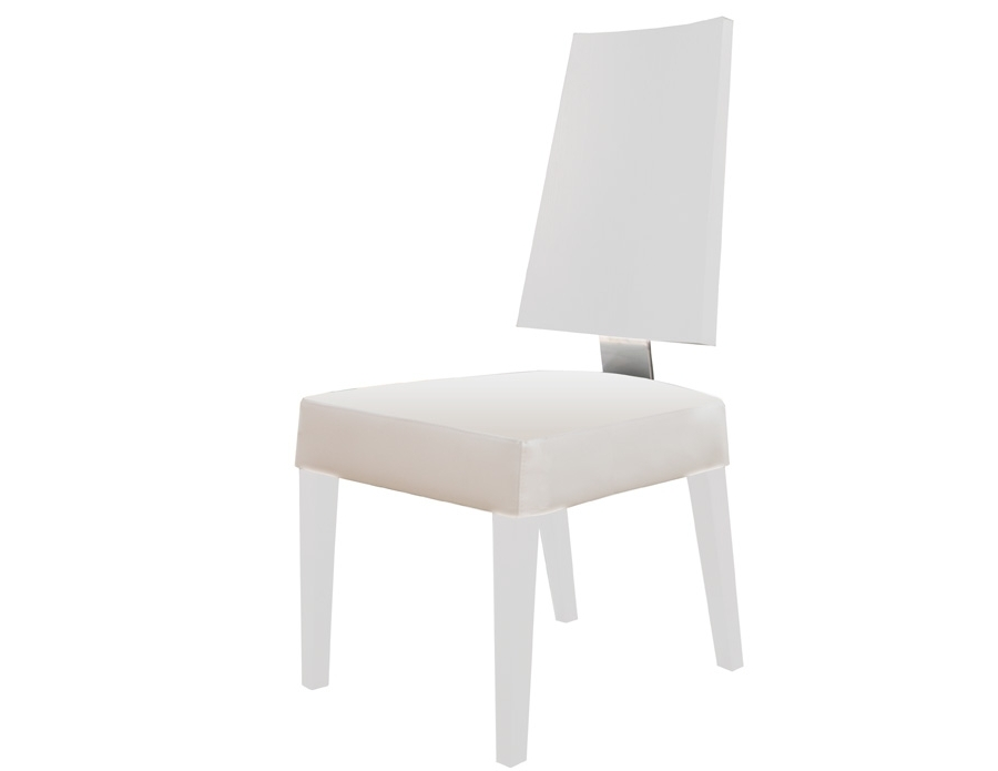 Well Known Rocco White Lacquer Side Chair Throughout Rocco Side Chairs (View 10 of 20)