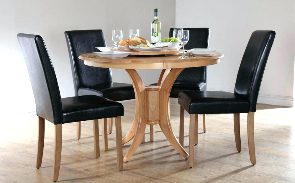 Well Known Round Black Glass Dining Tables And 4 Chairs Inside Imágenes De Round Black Glass Dining Table And 4 Chairs (View 18 of 20)