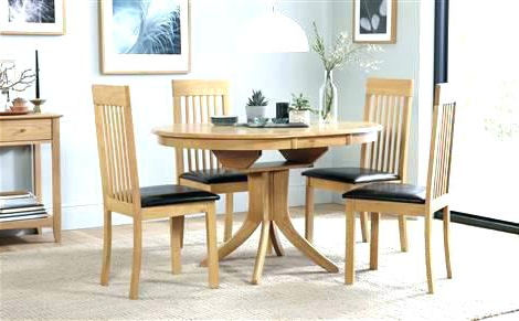 Well Known Round Oak Dining Tables And 4 Chairs With Round Extending Dining Table Sets Extending Dining Table And Chairs (View 13 of 20)
