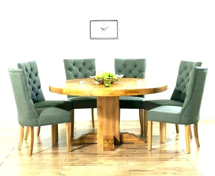 Well Known Round Oak Dining Tables And Chairs Regarding Solid Wood Kitchen Table 4 Chairs With Round Light Oak And White (View 20 of 20)