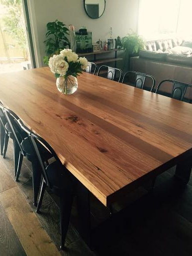 Well Known Rustic Dining Tables Within Rustic Dining Table Australia – Lumber Furniture (View 13 of 20)