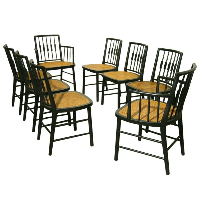 Well Known Set Of 8 Black Spindle Back Dining Chairsbaker At 1Stdibs Black With Regard To Magnolia Home Spindle Back Side Chairs (View 18 of 20)