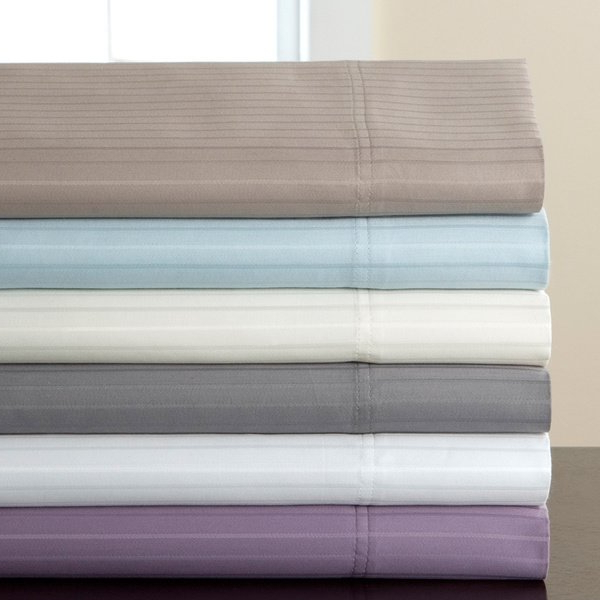 Well Known Shop 800 Thread Count Valencia Stripe Cotton Rich 6 Piece Sheet Set Regarding Valencia 72 Inch 6 Piece Dining Sets (View 9 of 20)