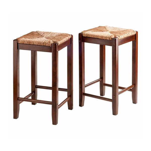 Well Known Shop Kaden 2 Pc Set Counter Stools Rush Seat – Free Shipping Today Pertaining To Harper 5 Piece Counter Sets (View 19 of 20)