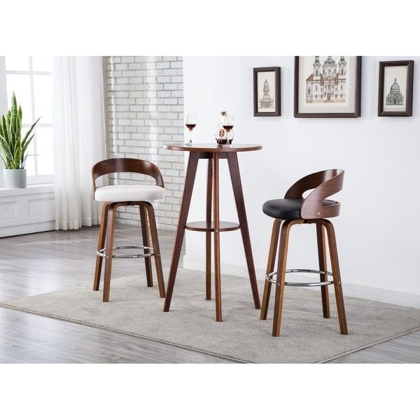 Well Known Shop Porthos Home Bar/counter Stools, Leather Upholstery ,set Of 2 Pertaining To Valencia 4 Piece Counter Sets With Bench & Counterstool (View 3 of 20)