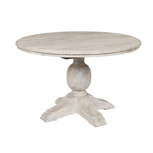 Well Known Shop Valencia Wood Antique White 48 Inch Dining Tablekosas Home Within Valencia 60 Inch Round Dining Tables (View 12 of 20)