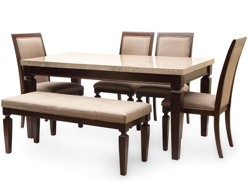 Well Known Six Seater Dining Tables For Bliss Marble Top Six Seater Dining Table By Hometown Bliss Marble (View 19 of 20)