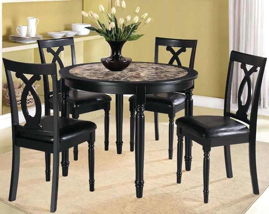 Well Known Small Black Dining Table Impressive Black Wood Dining Table And With Regard To Small Dark Wood Dining Tables (Gallery 13 of 20)