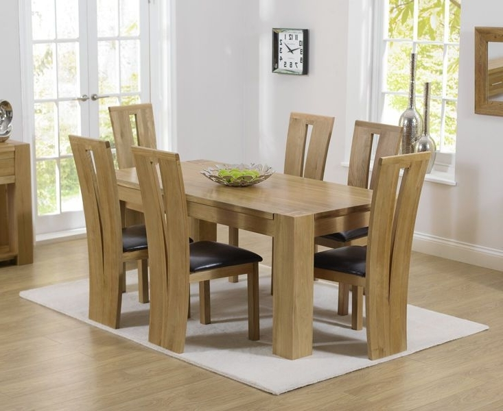 Well Known Solid Oak 180Cm Dining Table With 6 Dining Chairs (Thames / Montreal With Regard To Chunky Solid Oak Dining Tables And 6 Chairs (View 20 of 20)