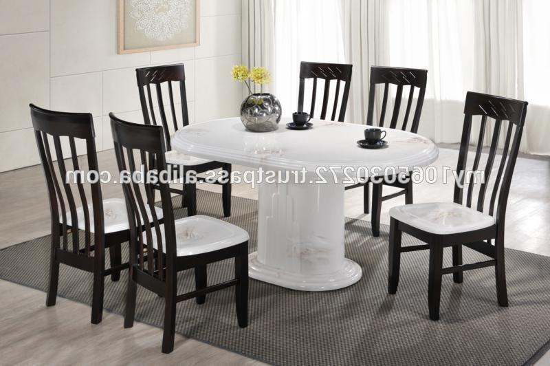 Well Known Stainless Marble Dining Table Solid Wooden Chair Table Stand – Buy Intended For Solid Marble Dining Tables (View 12 of 20)