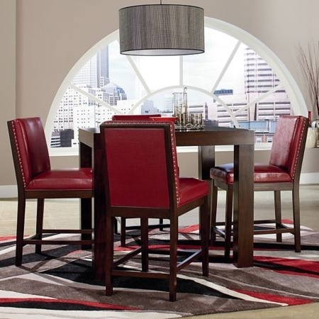 Well Known Standard Caden Counter Height Dining Group With Red Chairs (Model In Caden Side Chairs (View 20 of 20)