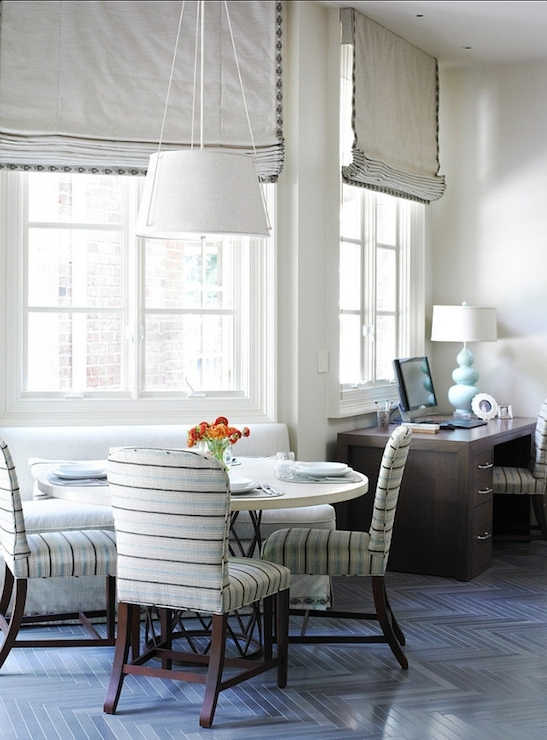 Well Known Striped Dining Chairs In Contemporary Dining Room The Design Atelier Pertaining To Blue Stripe Dining Chairs (View 3 of 20)