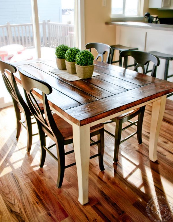 Well Known Stylish Farmhouse Dining Tables–Airily Romantic Or Casual And Cozy Pertaining To Farm Dining Tables (View 17 of 20)