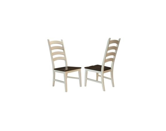 Well Known Toluca Chalk White Cocoa Bean Ladder Back Side Chairs – Set Of 2 – A Throughout Amos Side Chairs (View 19 of 20)