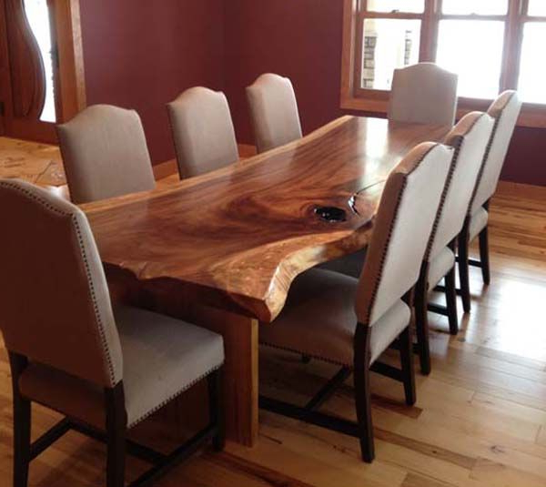 Well Known Tree Dining Tables Pertaining To Dining Table From Tree Slab (View 19 of 20)