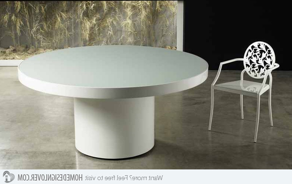 Well Known White Circular Dining Tables Throughout 15 Lovely Circular White Dining Tables – My Decor – Home Decor Ideas (View 4 of 20)