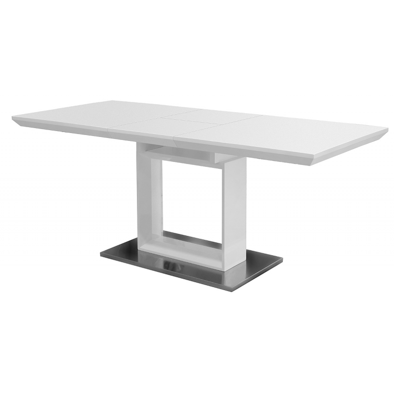 Well Known White High Gloss Dining Tables Regarding White High Gloss Extending Dining Table (Gallery 12 of 20)