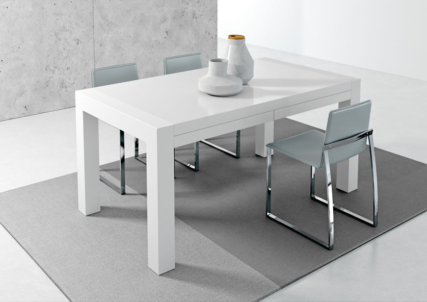 Well Known White Melamine Dining Tables Regarding Contemporary Dining Table / Metal / Stained Wood / Melamine – Vuelta (View 14 of 20)