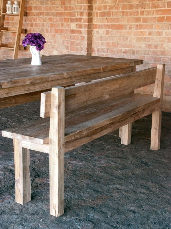 Featured Photo of Bench With Back For Dining Tables