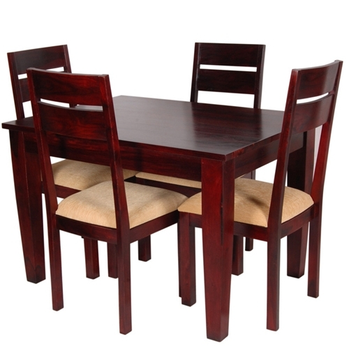 Well Liked 4 Seat Dining Tables Regarding Elona 4 Seater Dining Sets In Provincial Mahogany Teak Finish (View 19 of 20)