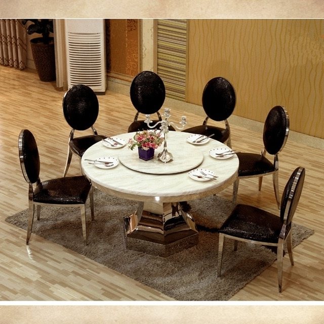 Well Liked 8 Seater Round Dining Table And Chairs With 8 Seater Big Round Dining Table With Turntable Marble Top Dining (View 18 of 20)