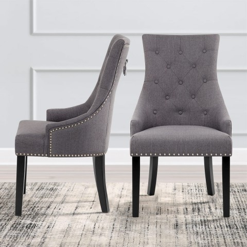 Well Liked Ascot Dining Chair Charcoal Fabric – Atlantic Shopping With Regard To Charcoal Dining Chairs (View 20 of 20)