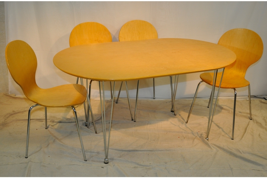 Well Liked Beech Dining Tables And Chairs In Beech Dining Table With 6 Dining Chairs (View 3 of 20)