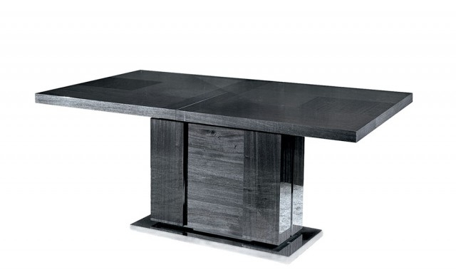 Well Liked Black Extending Dining Tables Throughout Antibes – 160Cm Extendable Table With 1 Leaf – Fishpools (View 18 of 20)