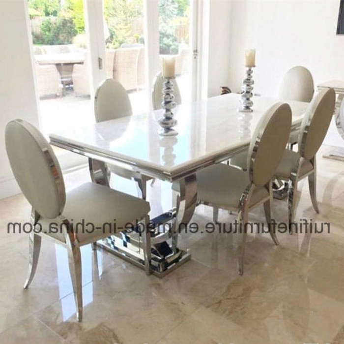Well Liked Chrome Dining Tables And Chairs With  (View 19 of 20)