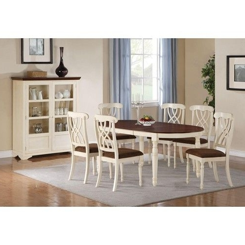 Well Liked Coaster Cameron 7 Piece Cottage Oval Dining Table & Side Chair Set With Amos 7 Piece Extension Dining Sets (View 12 of 20)