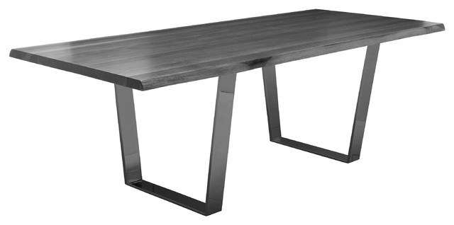 Well Liked Cogsworth Industrial Gray Oak Black Dining Table, 78W – Industrial For Black Dining Tables (View 19 of 20)