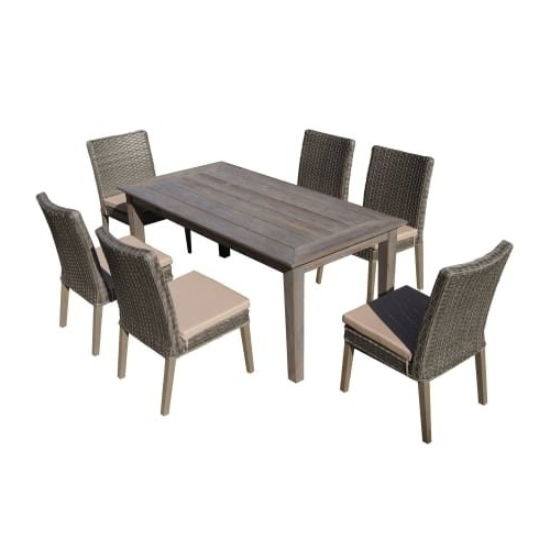 Well Liked Cora 7 Piece Dining Sets Inside Shop Delacora Df 6114 Bas 7 Piece Outdoor Dining Set With (View 3 of 20)