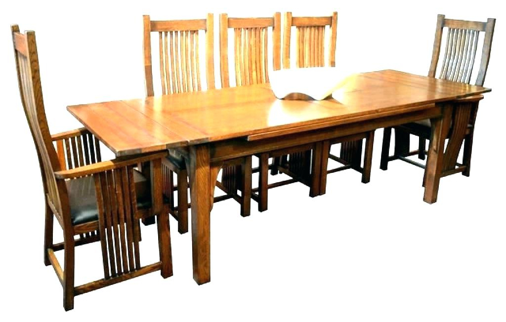 Well Liked Craftsman Round Dining Tables Inside Craftsman Dining Table Craftsman Style Dining Room Table Antique (View 6 of 20)