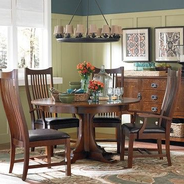 Well Liked Craftsman Round Dining Tables With Bassett Furniture Gallery – Craftsman – Dining Tables – Other Metro (View 20 of 20)