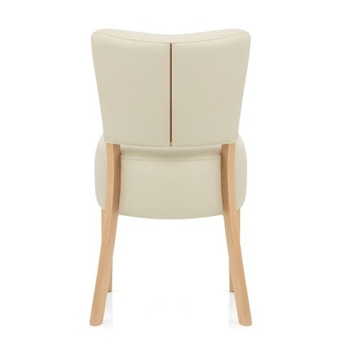 Well Liked Cream Leather Dining Chairs Within Ramsay Oak Dining Chair Cream Leather – Atlantic Shopping (View 9 of 20)