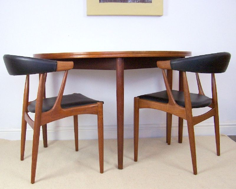Well Liked Danish Teak Tablepoul Volther For Frem Rojle – Half Moon Fold Pertaining To Round Half Moon Dining Tables (View 20 of 20)