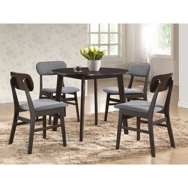 Well Liked Dark Brown Wood Dining Chair Pair – Debbie (View 9 of 20)