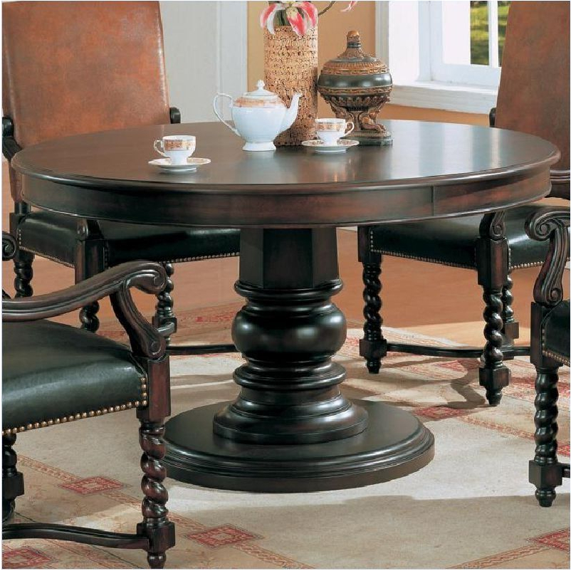 Well Liked Dark Round Dining Tables Regarding Marvelous Round Dark Wood Pedestal Dining Table Dining Tables Dark (View 20 of 20)